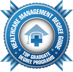 Number 17 Online Master in Health Administration and Health Care Management 2014 badge.
