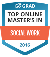 Number 9 of 24 top GoGRAD online MSW programs