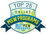 Number 16 of 25 top online MSW programs